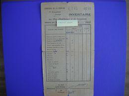 Chantier De Jeunesse . 19 Em Groupement . Inventaire Des Effets D'abillement Et De Campement . - Historical Documents