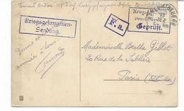 Rare CAMP DE BENEDICKTBEUERN -PRISONNIER FRANÇAIS  - Carte De Bonne Annèe Avec  CENSURE   -2 SCANS - Guerre 1914-18