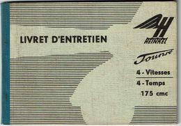 Livret D'entretien - Scooter HEINKEL TOURIST - 175 Cc - 64 Pages - 3 Scans - Motos