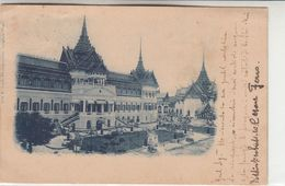 BANGKOK (SIAM) THAILAND THE ROYAL PALACE - CARTOLINA ORIGINALE SPEDITA PRIMI DEL 1900 - Thailand