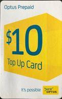 "AUSTRALIE  -  Prepaid  -  "" Yes ""  OPTUS  -  $ 10 - Australia"