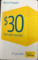 "AUSTRALIE  -  Prepaid  -  "" Yes ""  OPTUS  -  $ 30 - Australia"