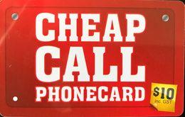 AUSTRALIE  -  Prepaid  -  CHEAP CALL  -  $ 10 - Australia