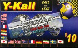 AUSTRALIE  -  Prepaid  -  Y-Kall  -  $ 10 - Australia