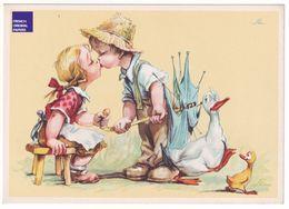 Carte Postale Humour 1960s - Canard Amoureux Enfant Zizi Masturbation Sexe érection Couple Amour érotique A38-17 - Humour