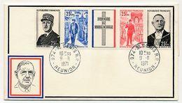 REUNION - Enveloppe FDC - Bande De Gaulle - 9/11/1971 - Storia Postale