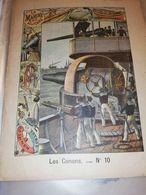 PROTEGE CAHIER ANCIEN LA MARINE MILITAIRE LES CANONS N°10 HONNEUR PATRIE - Löschblätter, Heftumschläge