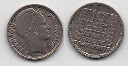 + FRANCE   + 10 FRANCS 1946 B + RAMEAUX LONGS + TRES TRES BELLE + - K. 10 Francs