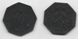 + FRANCE   + MONNAIE DE NECESSITE + 10 PFENNIG 1917 + HAYANGE + TRES TRES BELLE + - K. 10 Francs