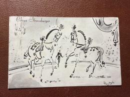 PROGRAMME CIRQUE  CIRCUS STRASSBURGER  Seizoen 1961  ALLEMAGNE - Programme