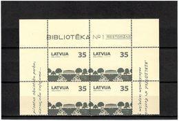Latvia 2012 . Library-1, Restaurant. Block Of 4. Michel # 827 - Lettonie