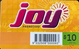 AUSTRALIE  -  Prepaid  - JOY Phonecard -  $ 10 - Australia
