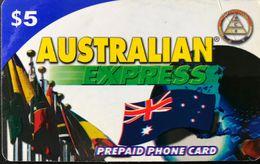 AUSTRALIE  -  Prepaid  - Australian Express  -  $ 5 - Australia