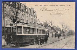 CPA 94 CRETEIL - La Sation Des Tramways - Creteil