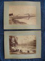 2 Photographies Anciennes  VERSAILLES Le Château  Et Promenade En Barque Sur Un Lac - Fotos