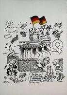 Plantu 1989  La Chute Du Mur De Berlin  Flag   Drapeau - Plantu