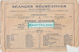 V P : Faire  Part  Mariage : Boucé ;  Séances  Récréatives  DANS  L '  ETAT :!!( Imp à  Argentan)  1943 - Wedding