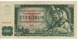 CZECHOSLOVAKIA   100 Korun   P91k    Prefix G     1961 - Czechoslovakia
