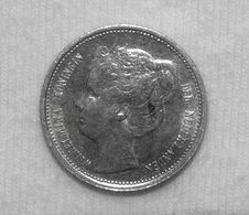 Silber/Silver Niederlande/Netherlands Antilles Curacao Wilhelmina, 1901, 1/10 Gulden VZ/XF - [ 4] Colonies