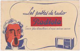 Buvard. Les Postes De Radio RADIOLA. Encore Plus D'émetteurs, Et Reçus Mieux Encore (2) - Papel Secante