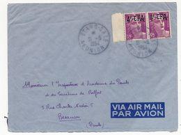 REUNION - Enveloppe Affr Paire 4F/10F Gandon - Etang Salé 1954 - Réunion (1852-1975)