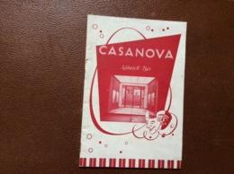 PROGRAMME CIRQUE  CIRCUS CASANOVA  Programm 1955  ALLEMAGNE - Programme
