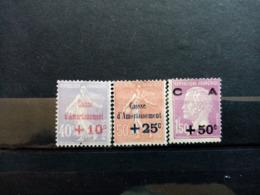 FRANCE.1928.N°249.250.251. Au Profit De La Caisse D'Amortissement .NEUFS+.Côte Yvert 107 € - Nuevos