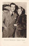 Barbara Stanwyck & Robert Taylor.Latvian Edition Nr.3788 - Acteurs