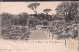 C. Postale - Roma - Avanzi Del Quartiere Degli Ospiti Nella Villa Adriana - Circa 1910 - Circulee - Cygnus - Parks & Gardens