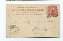 Great Britain  Squared Circle Bradford 8h1  1893 On Prepaid  Postcard - Briefe U. Dokumente