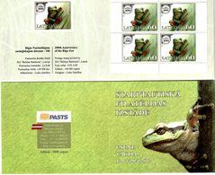Latvia 2012 . ESSEN 2012. Bklt Of 4. Frog. Left/right Imperf.  Michel # 833 MH - Lettonie