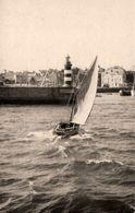 Ile De Groix * Carte Photo * Un Canot Rentrant Au Port * Bateau Phare * Photographe Blanchard - Groix