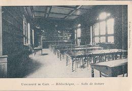 DPT 14 UNIVERSITE DE CAEN Bibliothèque Salle De Lecture CPA TBE - Caen