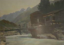 Suisse. Vallée De Zermatt. Photogravure Fin XIXe. - Estampas & Grabados