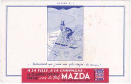 Buvard. La Pile MAZDA. Buvard N° 7. Albert Dubout - Batterie