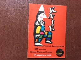 PROGRAMME CIRQUE  Cirque National Suisse KNIE  Programme 1959 - Programme