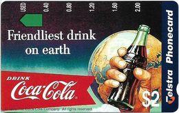 Australia - Telstra (Anritsu) - 1996 Coca Cola Complimentary - M451 - Friendliest 11/20 - 09.1996, 2$, 2.000ex, Mint - Australia
