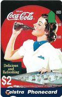 Australia - Telstra (Anritsu) - 1996 Coca Cola Complimentary - M452 - Delicious 12/20 - 09.1996, 2$, 2.000ex, Mint - Australia