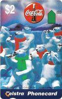 Australia - Telstra (Anritsu) - 1996 Coca Cola Complimentary - M453 - Polar Bears 13/20 - 09.1996, 2$, 2.000ex, Mint - Australia