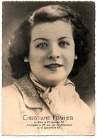 Guerre 1939-45 : Résistance, Arrestations, Assassinats,... Christiane FRAHIER (Saint Germain En Laye). - Krieg, Militär