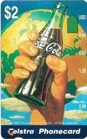 Australia - Telstra (Anritsu) - 1996 Coca Cola Complimentary - M455 - Bottle On Hand 15/20 - 09.1996, 2$, 2.000ex, Mint - Australia