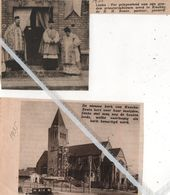 KNOKKE..1935.1938. DE NIEUWE KERK / GOUDEN PRIESTERJUBILEUM E.H. BONTE WERD GEVIERD - Vieux Papiers