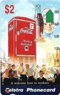 Australia - Telstra (Anritsu) - 1996 Coca Cola Complimentary - M458 - Workers 18/20 - 09.1996, 2$, 2.000ex, Mint - Australia