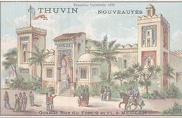 CHROMO  THUVIN NOUVEAUTES MEULAN  EXPOSITION UNIVERSELLE 1878 - Trade Cards