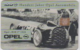 "!!!!GERMANY-1018 - O 0137 99 - 5.000EX. - 100 Jahre Opel 3 - ""RAK 2"" 1928 (transparent) - Allemagne"