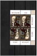 Latvia 2012 . Bibliographer Janis Misins-150. Block Of 4. Michel # 834 - Lettonie