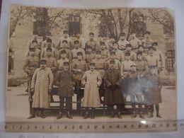 Militaria Photo De Groupe De Militaires En Tenue Du 91 ° Régiment - Krieg, Militär