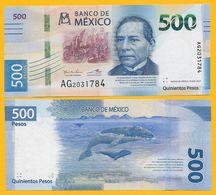 Mexico 500 Pesos P-new 2017 Sign.Ramos Francia & Alegre Rabiela UNC Banknote - Mexiko
