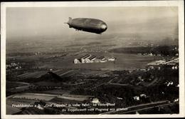 Cp Friedrichshafen Am Bodensee, Fliegeraufnahme, Luftschiff Graf Zeppelin, Zeppelinwerft - Autres
