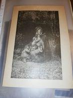GRAVURE ANCIENNE CIRCA 1895 LE BOIS DE LA SAUDRAIE G BRION 17 X 23 CM - Estampas & Grabados